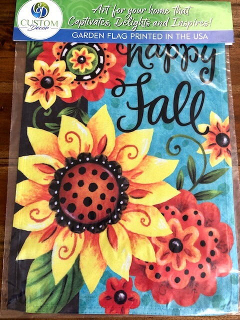 Fall Whimsy Flowers Garden Flag