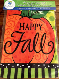 Happy Fall Whimsy Pumpkin Garden Flag