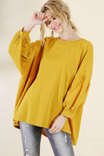 Load image into Gallery viewer, Umgee Balloon Sleeve Top in Goldenrod
