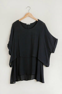 Umgee Black Layered Top