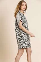 Load image into Gallery viewer, Umgee Animal Print Dress with Rolled Short Sleeves