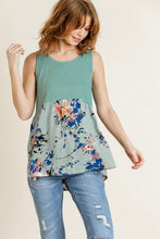 Load image into Gallery viewer, Umgee Lagoon Floral Print Sleeveless Top