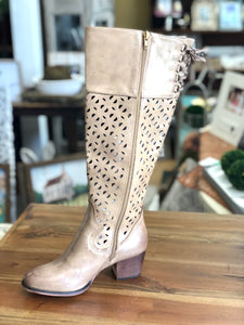 Boutique by Corkys Gabbie Tall Boot in Natural Distressed - June Adel