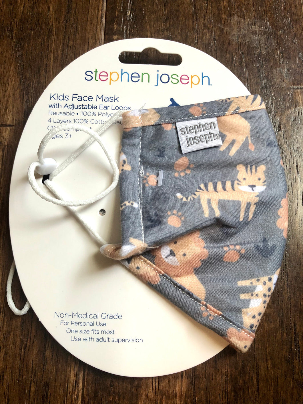 Stephen Joseph Zoo Animals Face Mask