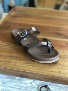 Boutique by Corkys Santa Ana Sandals in Pewter