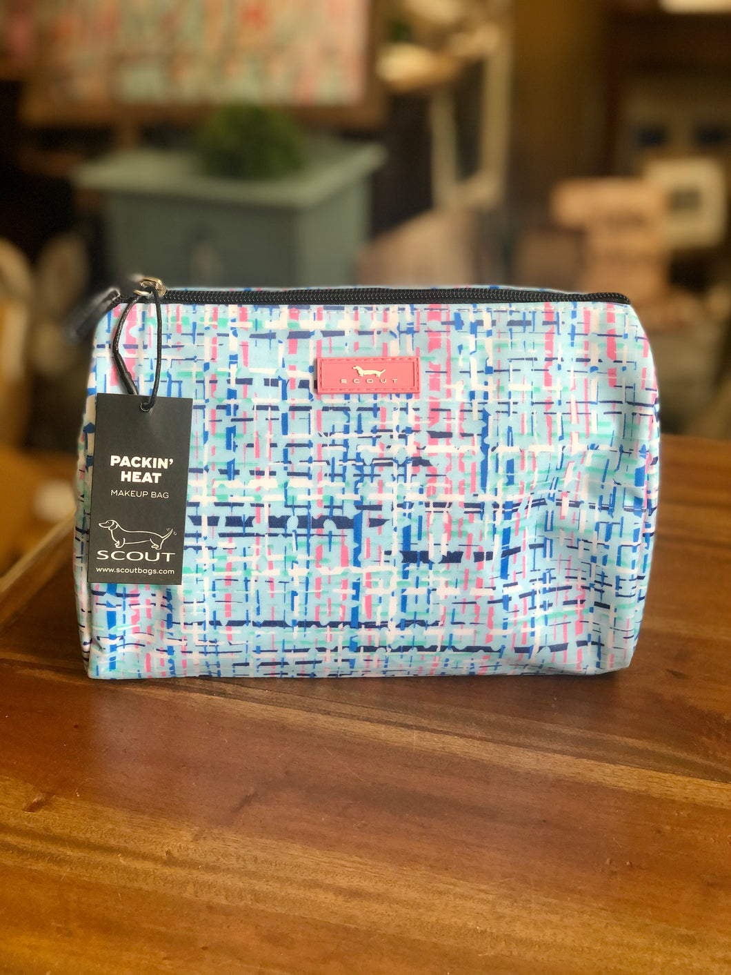 Scout Packin' Heat Makeup Bag in Need for Tweed