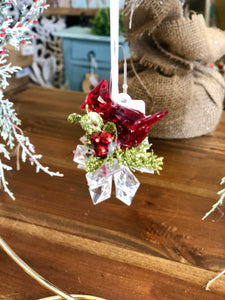 Mini Red Cardinal Ornament
