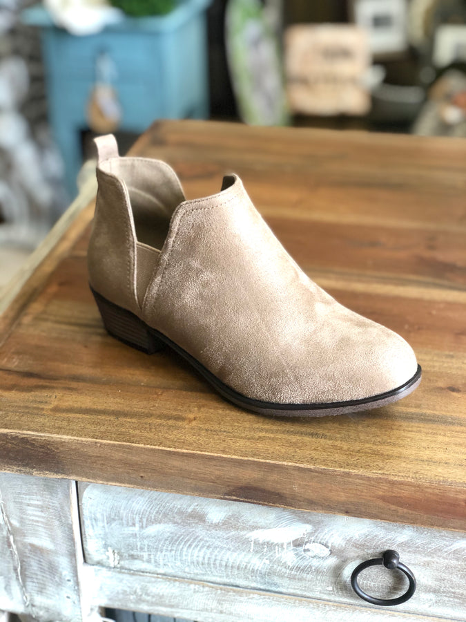 Pierre Dumas Zoey-21 Ankle Boot in Taupe - June Adel
