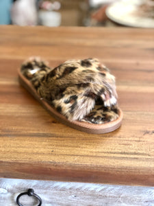 Corkys Slippers Slumber in Leopard