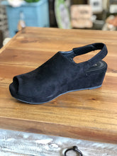 Load image into Gallery viewer, Boutique by Corkys Peep Wedge in Black - June Adel