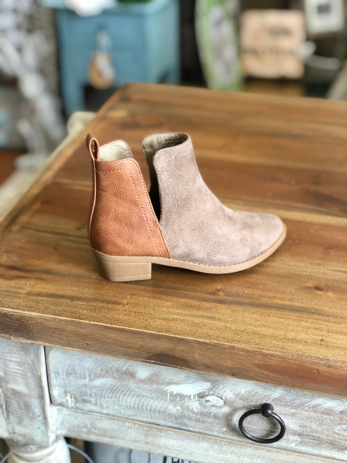 Corkys Kids Shield Ankle Boot in Cognac Beige - June Adel