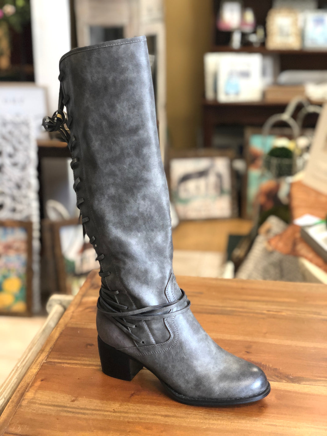 Boutique by Corkys Annabel Tall Boots in Grey - June Adel