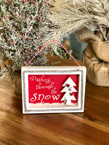 Dashing through the Snow Wall Hanging