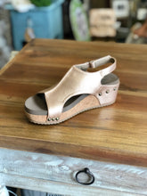 Load image into Gallery viewer, Boutique by Corkys Volta Wedge in Gold - June Adel