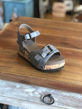 Load image into Gallery viewer, Corkys Kids Buckle Sandals in Pewter