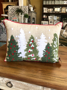 Christmas Tree Pillow in Natural