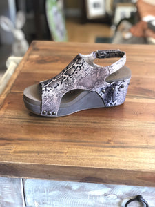 Boutique by Corky's Cabot Wedge in Brown Snake - June Adel