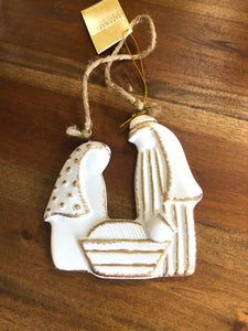 Ceramic Holy Family Ornament