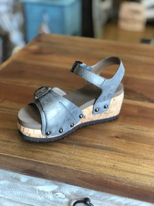 Corkys Kids Buckle Sandals in Pewter