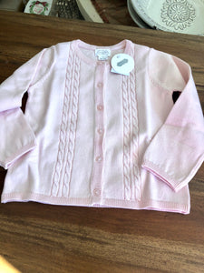Mud Pie Girls Pink Cable Cardigan
