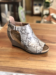 Boutique by Corkys Sunburst II in Taupe Snake - June Adel