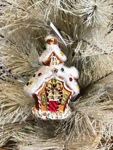 Midwest CBK Glass Gingerbread House Ornament