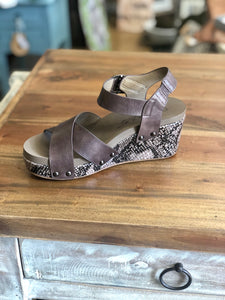 Boutique by Corkys Flax Wedge in Brown - June Adel