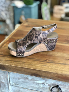 Boutique by Corkys Carley Wedge in Distressed Leopard - June Adel