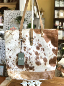 Myra Chestnut Hairon Tote Bag
