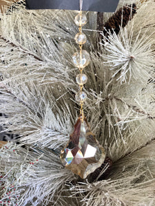 Champagne Crystal Drop Ornament