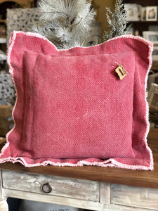 Mud Pie Vintage Red Large Pillow