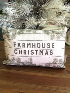 Farmhouse Christmas Pillow by Primitives by Kathy