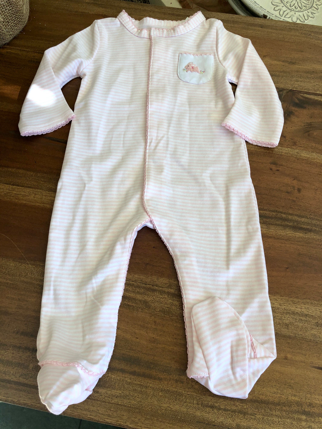 Mud Pie Bunny Footed Romper
