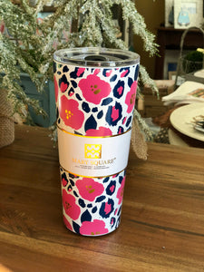 Mary Square Stainless Steel Tall Tumbler in Wild Posy