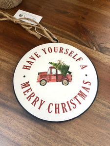 Have Yourself a Merry Christmas Red Truck Ornament