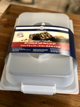 Load image into Gallery viewer, USA Pan Rectangular Cake Pan and Lid Set