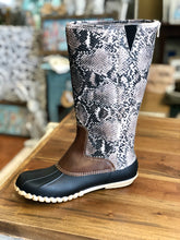 Load image into Gallery viewer, Outwoods Autumn-20 Boots in Taupe Snake Print - June Adel