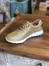Load image into Gallery viewer, Pierre Dumas Gold Glitter Sneakers in Platinum