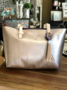 Consuela Big Breezy Bag in Rose Metallic