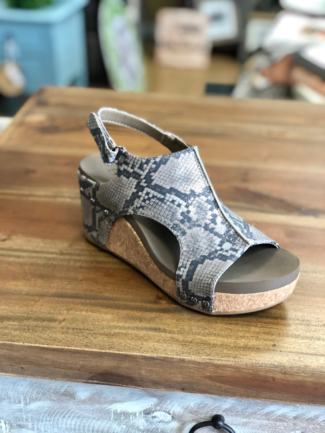 Boutique by Corkys Carley in Taupe Snake