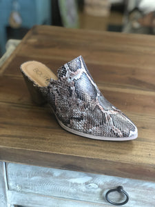 Boutique by Corkys Haisley Mule in Brown Snake