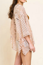 Load image into Gallery viewer, Blush Lace Kimono - June Adel
