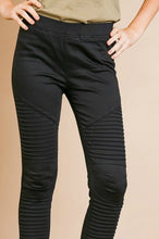 Load image into Gallery viewer, Black Moto Pants - June Adel