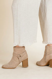 Umgee Wide Leg Linen Pants in Oatmeal
