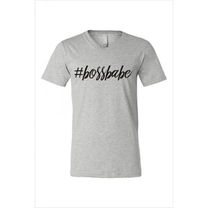 Heather Gray Boss Babe Graphic Tee - June Adel