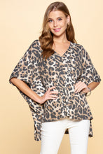 Load image into Gallery viewer, Oddi Loose Leopard Print Top