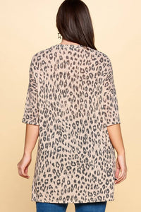 Oddi Pink Leopard Soft Knit Top