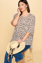 Load image into Gallery viewer, Oddi Pink Leopard Soft Knit Top