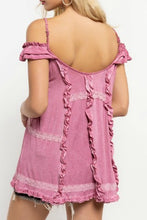 Load image into Gallery viewer, Plum Off Shoulder Top with Ruffle Details - June Adel