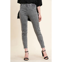 Load image into Gallery viewer, Charcoal Mineral Washed Leggings with Seamed Details and Side Zippers - June Adel
